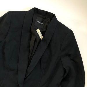 Madewell Sleek Black Modern Blazer size 8